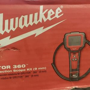 Milwaukee M- Spector 360 Rotating Inspection Scope Kit 9mm for Sale in Turlock, CA