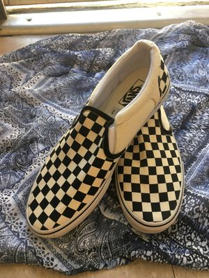 Men's Black And White Checkered Vans for Sale in Los Angeles, CA