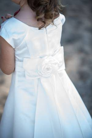 Flower Girl Dress with Matching Shoes, Socks and Flower Basket for Sale in Murrieta, CA