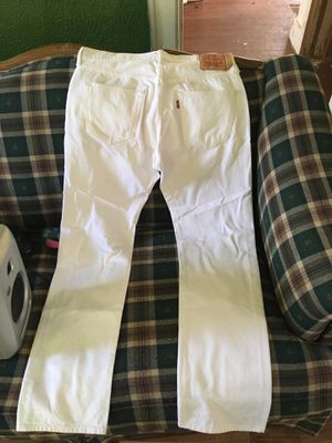Brand new pair of all white Levi's for Sale in Detroit, MI