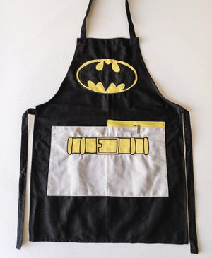 Batman Embroided Apron for Adult with zipper pockets on front for Sale in Hesperia, CA