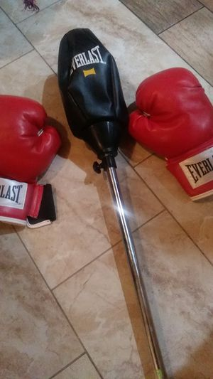 New Boxing Gloves. & New speed Punching Bag for Sale in San Bernardino, CA