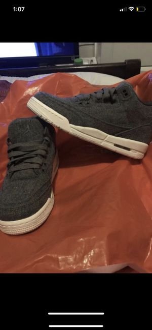 New Jordans size 7 color charcoal gray Brand new Without box for Sale in Washington, DC
