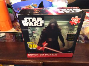 Star Wars Super 3 D 150 Piece Puzzle UT3 • for Sale in Hayward, CA