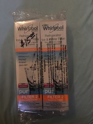 Whirlpool refrigerator ice water filter for Sale in Dallas, TX