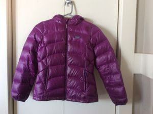 Patagonia girls down jacket with hood for Sale in Seattle, WA