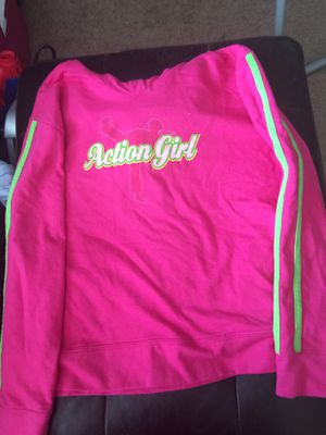 Action girl pink light weight cotton hoodie for Sale in Milwaukie, OR