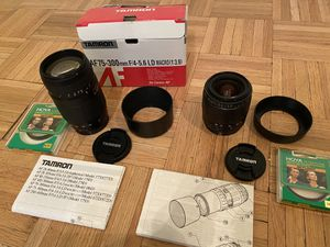 Like NEW Tamron AF 75-300mm & AF 28-80mm Lenses for Canon - Set of 2 for Sale in New York, NY
