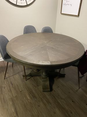 Living spaces large round dining table for Sale in Covina, CA