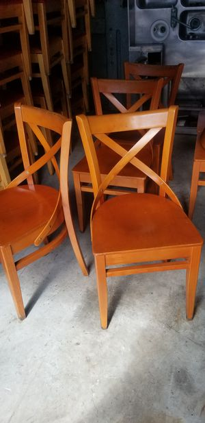 Restaurant wooden chairs for Sale in Miami Gardens, FL