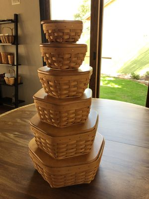 Longaberger Generations Baskets (6) for Sale in Gilbert, AZ