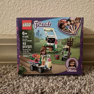 Lego 41425 Friends 6+ Olivia's Flower Garden NEW Cute Squirrel Robot 92 Pieces for Sale in Humble, TX