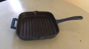 Blue enameled cast iron grill pan for Sale in Beaufort, NC
