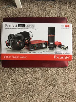 Scarlett Solo studio (Brand New) for Sale in Manvel, TX
