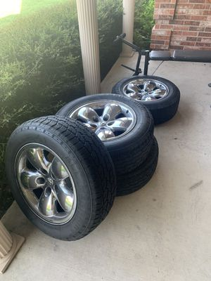 """2004 Ram 1500 20"""" chrome rim and tires for Sale in Saginaw, TX"""