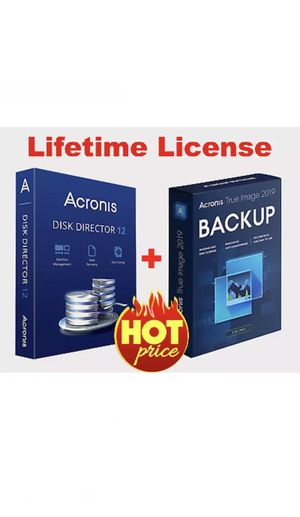 Acronis Disk Director 12 & Acronis True Image 2019 (boot)   Lifetime License Key for Sale in Los Angeles, CA