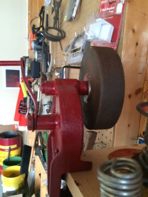Antique hand cranked grinding wheel for Sale in Saint Louis, MO