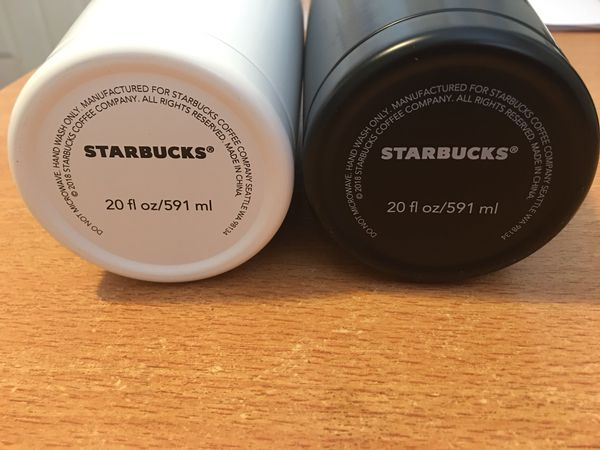STARBUCKS CUPS TWO (WHITE AND BLACK) BRAND NEW