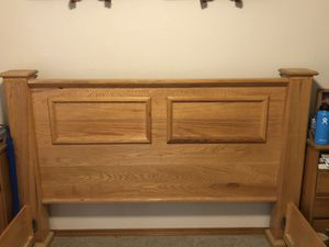 Custom made wood queen bed frame for Sale in Issaquah, WA