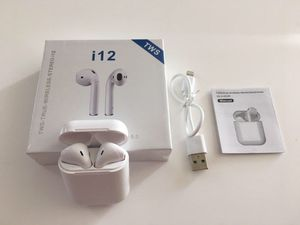 i12 TWS Bluetooth 5.0 Earphones Headphones Earbuds Touch Sealed White Color for Sale in Houston, TX