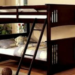 Full over Full Bunkbed with mattresses for Sale in Atlanta, GA