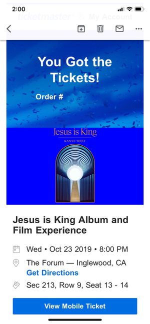 4 Kayne West Jesus is King Album and Film Tickets for Sale in Los Angeles, CA