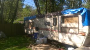 Pending ......Free.... Camper travel trailer 1970's 28 ft. No title will give bill of sale for Sale in Canby, OR