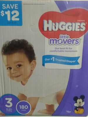 Huggies Brand Size 3 Baby Diapers (Little Movers)/Pañales Para Bebé for Sale in Woodbridge, VA