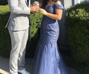 Blue Off The Shoulder Sparkly Prom Dress for Sale in Kerman, CA