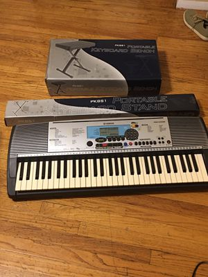 Yamaha Psr 225gm 61 Key Keyboard with Adapter, New portable keyboard bench , bag and portable keyboard stand.Good condition With for Sale in Chicago, IL