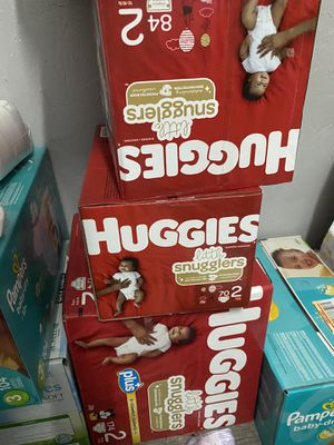 BRAND NEW HUGGIES SIZE 2 DIAPERS for Sale in Milpitas, CA