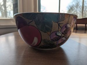 "Decorative cereal bowl, 3"" high, 6"" wide for Sale in South Attleboro, MA"