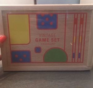 NEW Kikkerland Vintage Game Set, Bamboo Solitaire and Puzzle Games for Sale in Seattle, WA