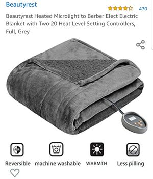Beautyrest full size electric microlight blanket for Sale in Las Vegas, NV
