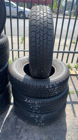 205/75/14 used set trailer tire free install for Sale in Stockton, CA