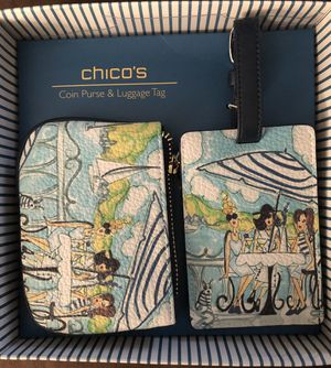 New Chicos Travel Gift Set • Luggage Tag & Change Purse for Sale in Washington, DC