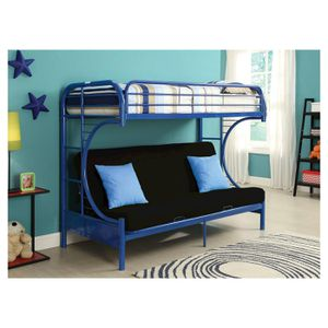 C SHAPE TWIN/FUTON B/BED BLUE BUNK BED for Sale in Dearborn, MI