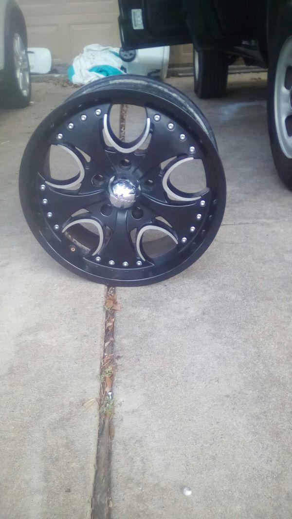 Four jeep wheels