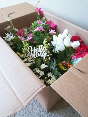 Large Box of Faux Floral Stem Picks Lot for Sale in Sunnyvale, CA