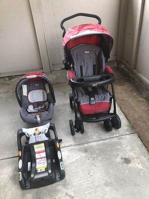 Chicco - KeyFit Car Seat, Stroller, & Base - Excellent Condition (market price $300 plus taxes) for Sale in Newark, CA
