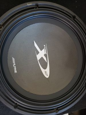 """ALPINE TYPE X 12""""INCH DUAL 4 OHM LIKE NEW for Sale in Ontario, CA"""