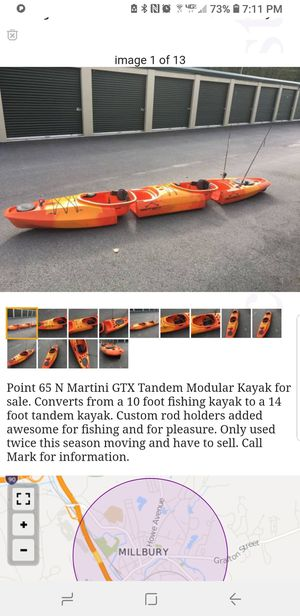 Fishing kayak {contact info removed} for Sale in Millbury, MA