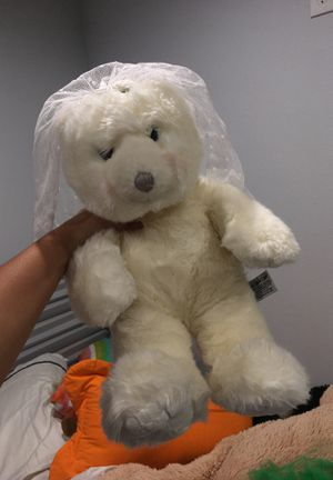 wedding polar bear stuffed animal with veil! for Sale in Garden Grove, CA