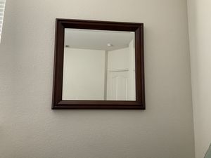 Mahogany Wood Framed Wall Mounted Mirror for Sale in Sacramento, CA