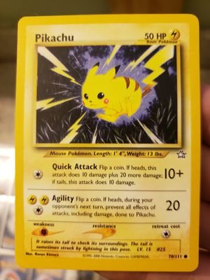 Pikachu neo genesis pokemon card for Sale in Los Angeles, CA