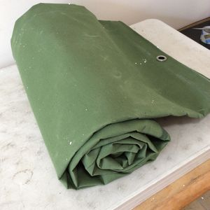8ft x 12ft Olive Drab Canvas Tarp Heavy Duty 18oz Cotton Material Tarpulin Tarp Waterproof And Breathable For All Purpose for Sale in West Carson, CA