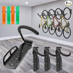 SMALLRT 4 Pack Garage Bike Rack Wall Mount Bike Hook Bicycle Hanger Storage System Vertical Hanging for Indoor Shed Easily Hang Heavy Duty 66 lbs for for Sale in Missouri City,  TX