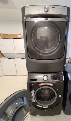 Samsung front load washer and maytag electric dryer mix and match set used in good condition with 90day's warranty for Sale in Mount Rainier, MD