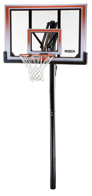 "New Lifetime 50"" Shatterproof In-Ground One Hand Adjust System 71799 Basketball Hoop(Tarpon Springs) for Sale in Palm Harbor, FL"