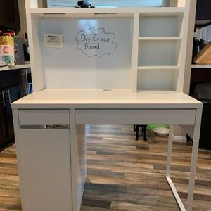 Computer Desk With Back Dry Erase Board for Sale in Whittier, CA
